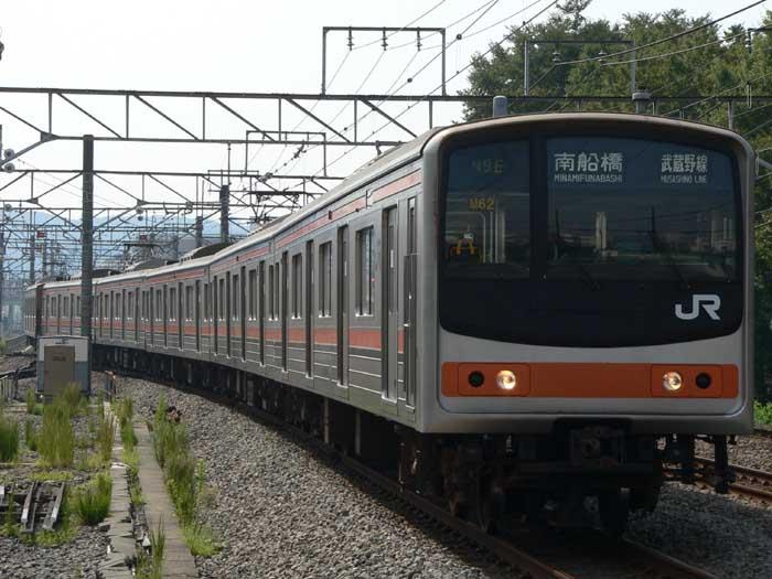 武蔵野線 205系 武蔵野線に205系が投入されたのは1991年。輸送力増強として豊田電車区に6