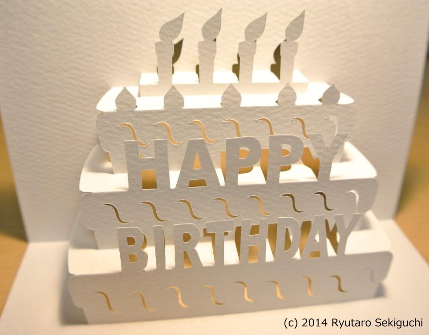 Kirigami Card Templates moreover Cake Pop Up Birthday Card Kirigami ...